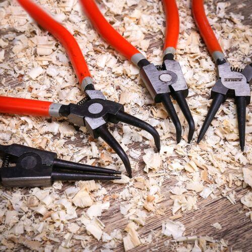 JUMLEE 4 In 1 7 Inch Manual Circlip Pliers Set Behoud Ring Tang