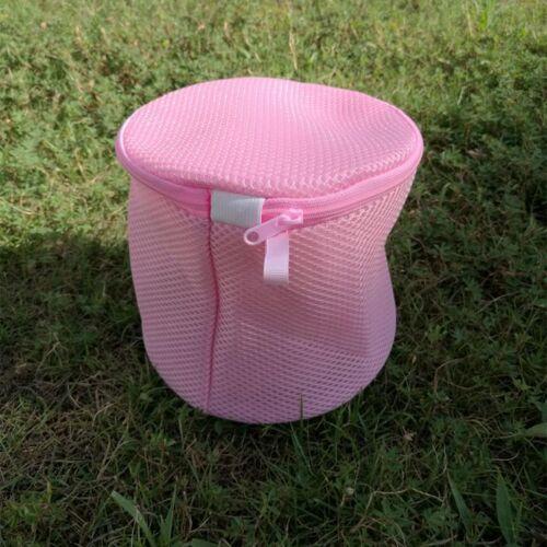 Ondergoed beha netto Wash tas lingerie kleding wassen rits mesh tas (roze)