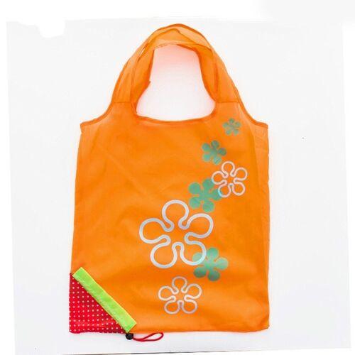 2 PC'S creatieve aardbei winkelen herbruikbare vouwen herbruikbare kruidenier boodschappentas (oranje)