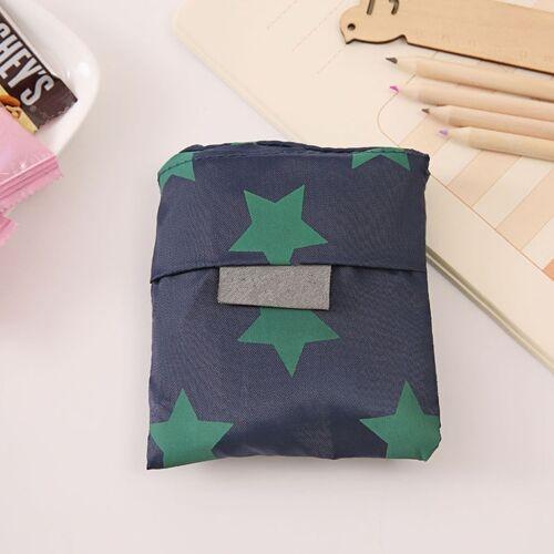 2 stks afdrukken opvouwbare boodschappentas grote capaciteit opslag zakken (donkerblauw pentagram)