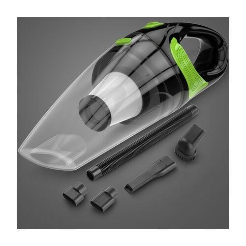 Draadloze auto stofzuiger handheld mini stofzuiger Super zuig NAT en droog dual use draagbare stofzuiger (transparant + groen)