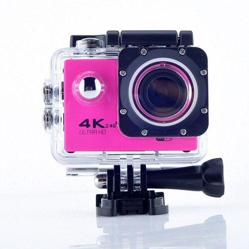 WIFI waterdichte actie camera fietsen 4K camera ultra duiken 60PFS kamera helm fiets cam Onderwatersport 1080P camera (roze)