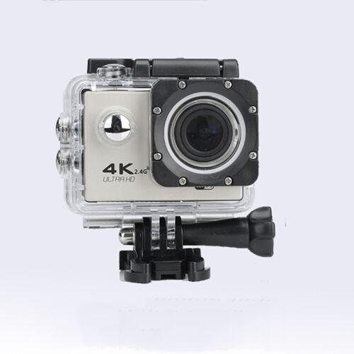 WIFI waterdichte actie camera fietsen 4K camera ultra duiken 60PFS kamera helm fiets cam Onderwatersport 1080P camera (zilvergrijs)