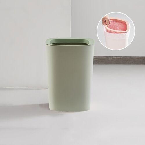 Woonkamer Huishouden Grote Keuken Badkamer Prullenbak met Press-ring (Groen)