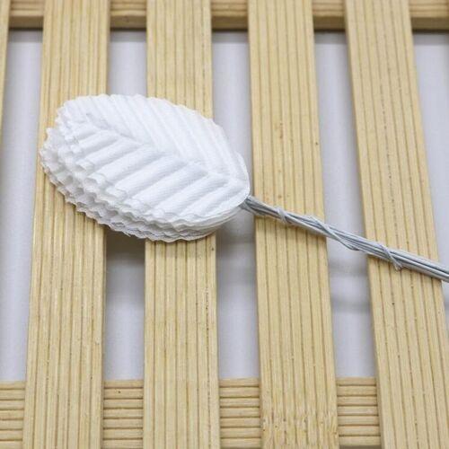200 STKS/pak DIY krans simulatie verlaat Home Decoratie benodigdheden (wit)