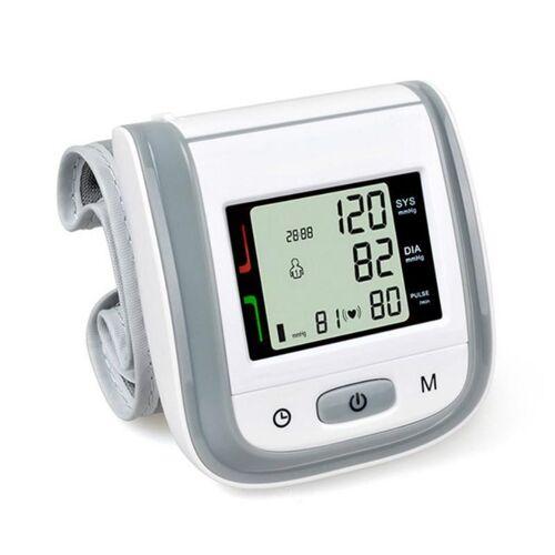 2 PC'S gezondheidszorg automatische pols bloeddruk monitor digitale LCD pols manchet bloeddruk meter (grijs)