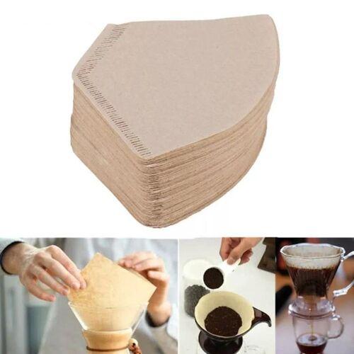 100 stuks/tas houten originele hand DRIP papier koffiefilter koffiefilter Pack theezakje zeef
