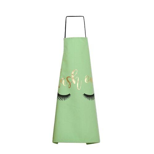 Vergulden wimper patroon mooie huishouden koken keuken Katoenen schort (groen)