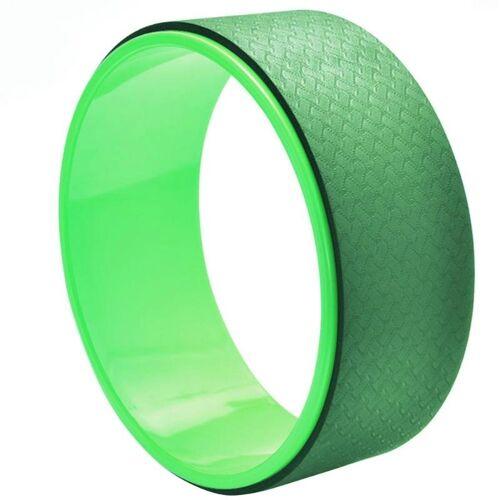 TPE + Alloy yoga wiel terug trainingshulpmiddel (donkergroen)