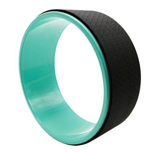 TPE + Alloy yoga wiel terug trainingshulpmiddel (zwart groen)