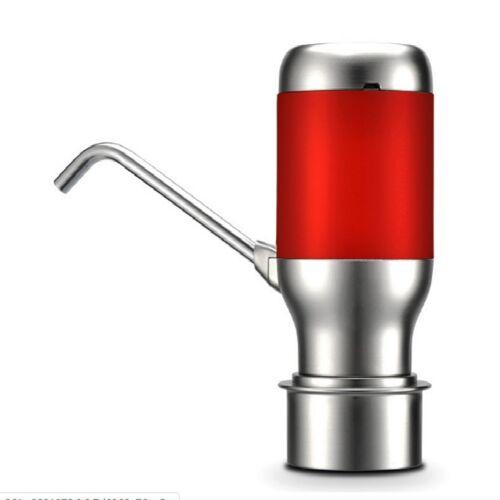 Draadloze elektrische automatische water fles pomp Smart dispenser USB oplaadbare elektrische batterij drink water fles pomp (rood)