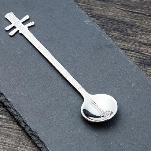 RVS koffie mengen lepel creatieve muziek instrument vorm lepel stijl: Yueqin kleur: zilver