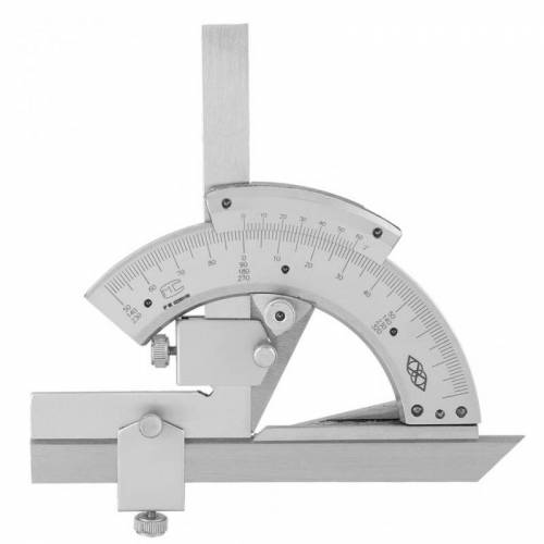 High Carbon Steel Non-parallax Trimmer Protractor Angle Measuring Ruler