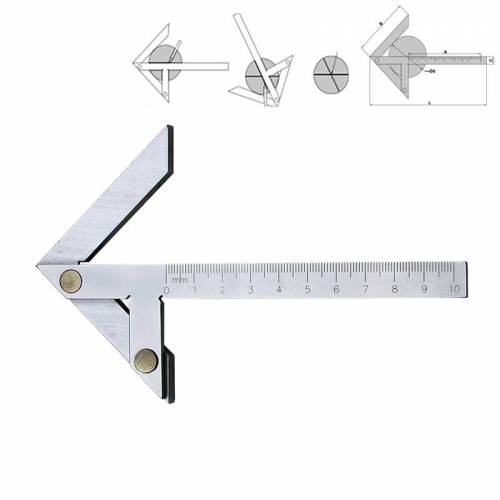 100x70 High Precision RvS Center Angle Gauge Ruler Protractor