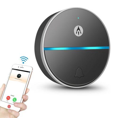 Difang WF-XTDJ Smart Phone externe intercom Draadloze deurbel Home lange afstand toegangscontrole pager (zwart)