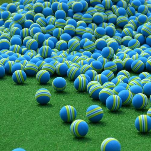 PGM 10 stuks Golf indoor praktijk spons bal (blauw)