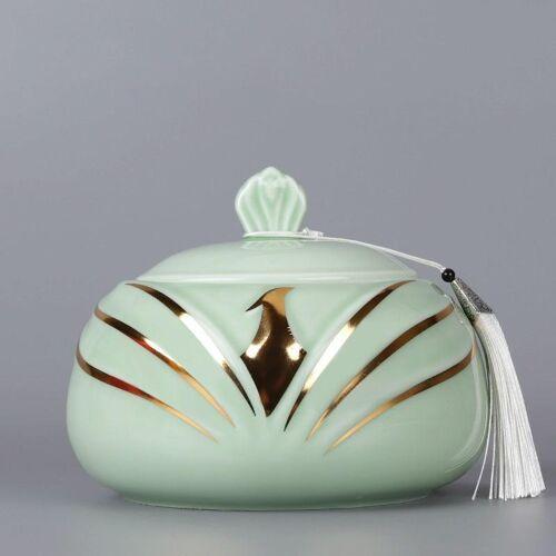 Thee blikjes keramische verzegeld blikjes thee blikjes thee opslag tanks kleine Puer thee vak huishoudelijke thee vat thee jar 800ml (wit)