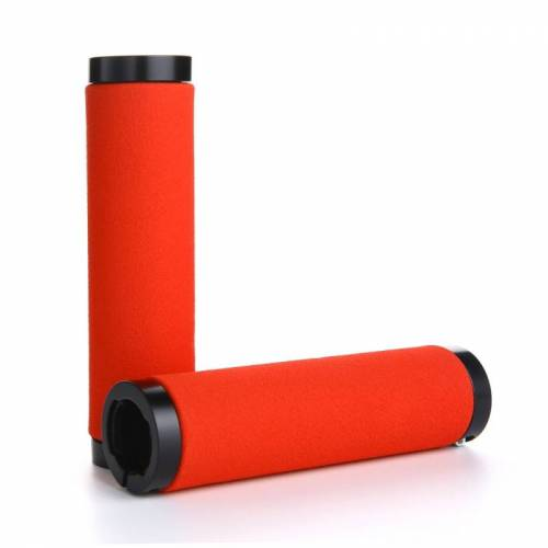 1 paar AG36 Alloy Lock-ringen + spons fiets Stuur grip (rood)
