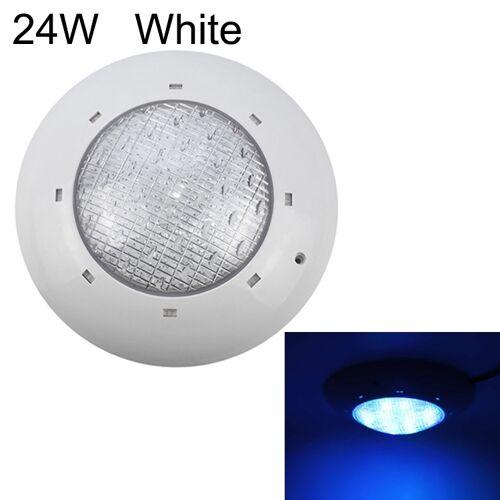 24W ABS kunststof zwembad muur lamp onderwater licht (wit)
