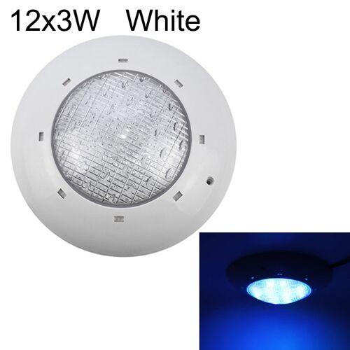 12x3W ABS kunststof zwembad muur lamp onderwater licht (wit)
