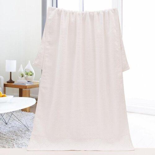 Grote badhanddoek voor volwassenen gezicht handdoeken katoen dik zacht water Quick-dry (wit)