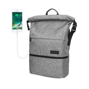 Polyester waterdichte laptoprugzak met USB-interfacecapaciteit: 35L (lichtgrijs)