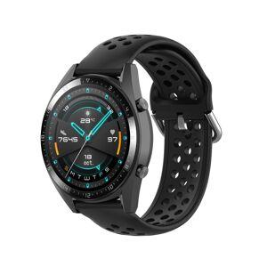 Huawei Voor Huawei Watch GT 46mm / 42mm / GT2 46mm 22mm Clasp Solid Color Sport Polsband Watchband (Zwart)