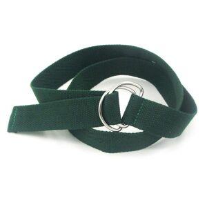 2 PCS Unisex Canvas Waist Belts Double Rings Buckle Waistband Strap Belts Solid Casual Belt Lengte:105 x 3 2 cm (Groen)