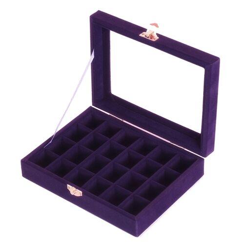 Sieraden doos 20x15 x 4 5 cm sieraden lade houder opslag sieraden Organizer 24 roosters ring oor studs sieraden doos