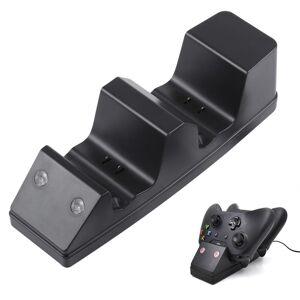 USB-Dual Dock lader laadstation met 2 x 1200mAh batterij Packs voor Xbox One(Black)
