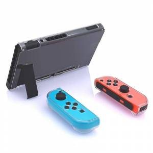 Nintendo Harde PC beschermhoes voor Nintendo switch NS Case afneembare Crystal plastic shell console controller accessoires (Clear)