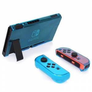 Nintendo Hard PC Protection cover voor Nintendo switch NS Case afneembare Crystal plastic shell console controller accessoires (blauw)