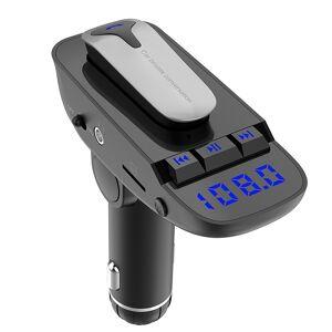 ER9 2 in 1 Hands-Free bellen auto Kit Wireless Bluetooth Headset Dual USB lader FM zender MP3-speler