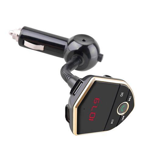 Bluetooth FM zender draadloze In-Car Radio Adapter muziek speler Hands-Free bellen carkit Dual USB lader steunen Bluetooth / Micro SD-kaart / Aux ingang / USB-schijf