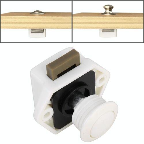 Pers type lade kast vangst klink release kast deur stop lade kast Locker voor RV/jacht/meubilair (wit)
