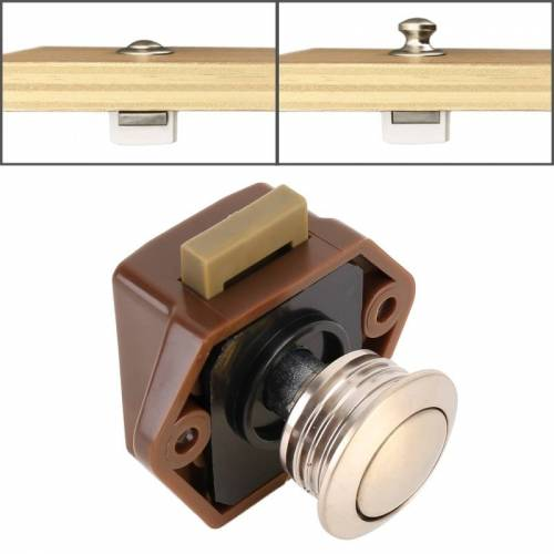 Pers type lade kast vangst klink release kast deur stop lade kast Locker voor RV/jacht/meubilair (bruin)