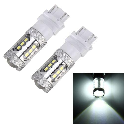 2 stk T25 / 3156 5W 250LM 6000K auto Auto draai licht lichten 16LEDs SMD-2835 achteruitrijlichten DC 12V (wit licht)