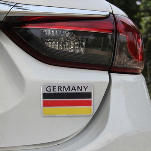 Duitsland vlag stijl metalen auto Sticker