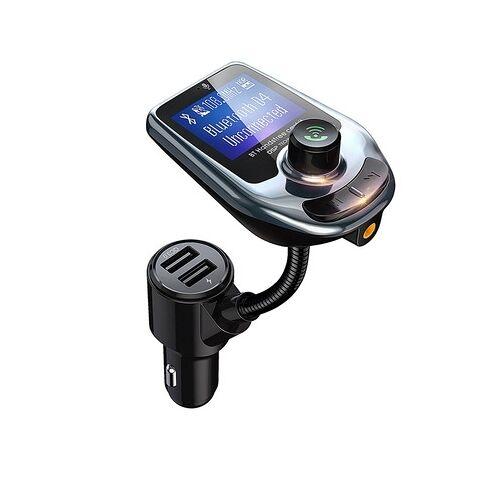D4 voertuig Bluetooth 5 0 hands free carkit QC 3.0 FM-zender MP3-audio speler (mintgroen)