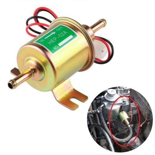 HEP-02A universele auto 12V brandstofpomp inline lage druk Elektrische brandstofpomp (goud)