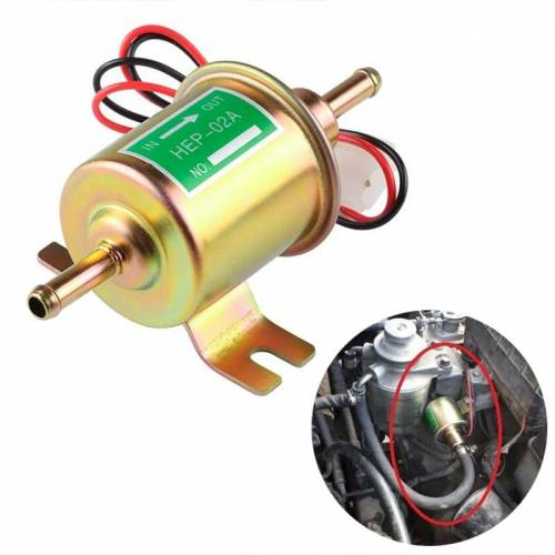 HEP-02A universele auto 24V brandstofpomp inline lage druk Elektrische brandstofpomp (goud)