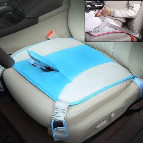 Auto Safety Seat Protective Pad met Clip Back Abdominal Belt voor zwangere vrouw (Sky Blue)