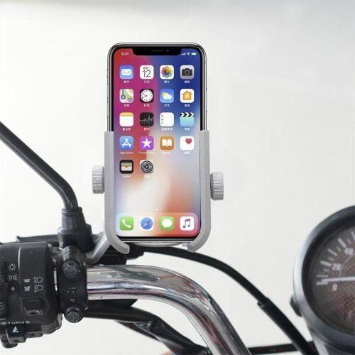 Motorfiets Aluminium Legering Quick Release Mobiele Telefoon Houder Beugel, Achteruitkijkspiegel Versie(Zilver)