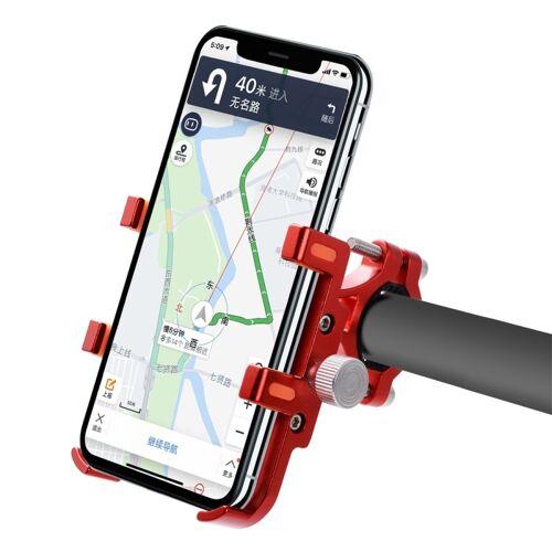 MPB-91 Motorfiets Zes Klauwen Aluminium Legering Mobiele Telefoon Houder Beugel (Rood)