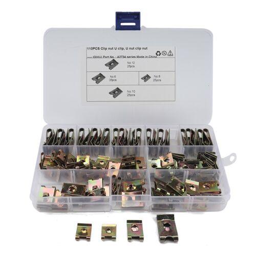 110 PCS U Nut Kit Spire Clips 6 / 8 / 10 / 12 Zink snelheid bevestigingsmiddelen Lug Nuts