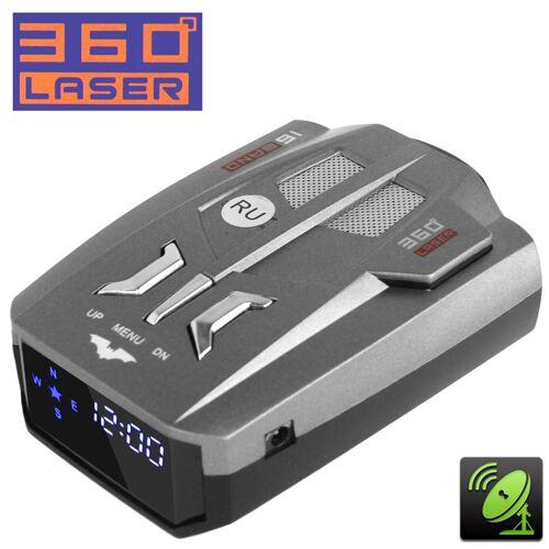 2 in 1 (360 graden Laser full-band Scanning geavanceerde radar detectoren/Laserverdedigings systemen & GPS-locatie) ingebouwde luidspreker alleen in Rusland taal