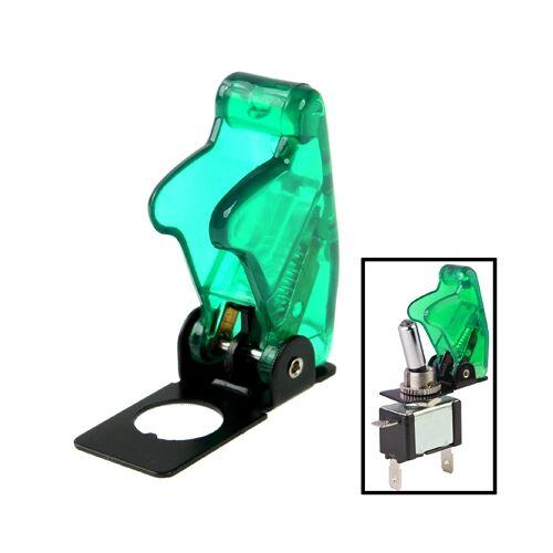4 x DIY transparant groen veiligheid Flip Cover voor tuimelschakelaar (4-pack in één verpakking de prijs is voor 4-pack)