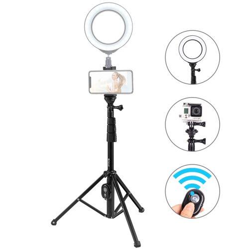 PULUZ Bluetooth sluiter afstandsbediening Selfie stok statief houder voor Vloggen live uitzending