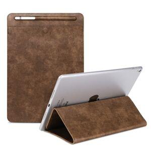 Apple Universele Case Sleeve tas voor iPad 2/3/4/iPad Air/Air 2/Mini 1/mini 2/Mini 3/Mini 4/Pro 9 7/Pro 10 5 met potlood geval & houder (bruin)