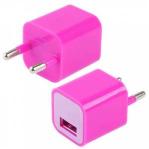 Apple USB thuis lader / oplader voor iphone 5 , iphone 4 & 4s (hard roze)